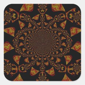 Hakuna Matata Gift Black Jamaica Pop Art. Square Sticker
