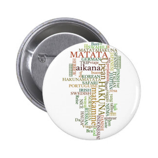 Hakuna Matata Gift Color 2 Inch Round Button