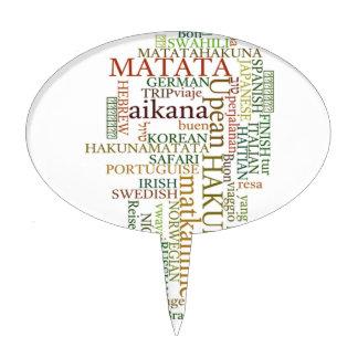 Hakuna Matata Gift Color Cake Toppers
