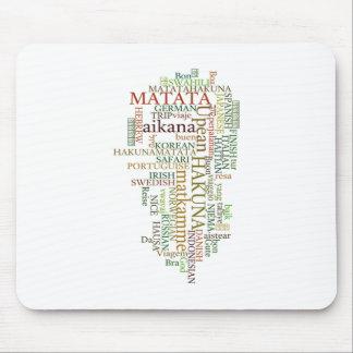 Hakuna Matata Gift Color Mouse Pad