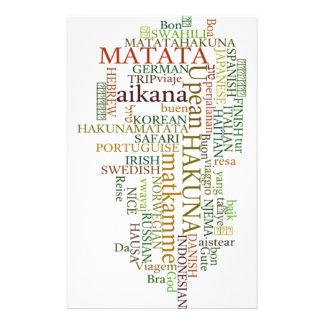 Hakuna Matata Gift Color Stationery