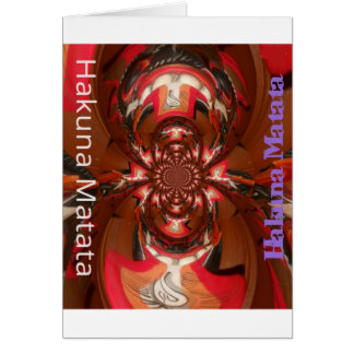 Hakuna Matata Gifts Haloween Special red Card