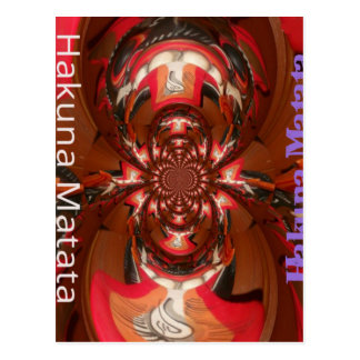 Hakuna Matata Gifts Haloween Special red Postcard