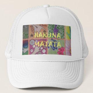 Hakuna Matata Gifts Inspired graphic text design Trucker Hat