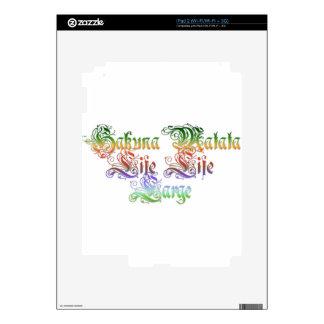 Hakuna Matata  gifts rasta colors.png Skin For The iPad 2