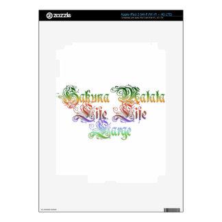 Hakuna Matata  gifts rasta colors.png iPad 3 Decal