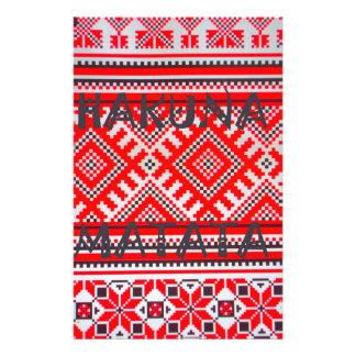 Hakuna Matata Graphic Text Art Design Stationery