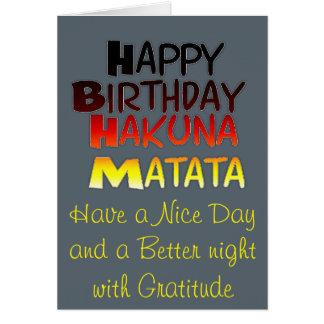 Hakuna Matata Greeting Card Vertical Template