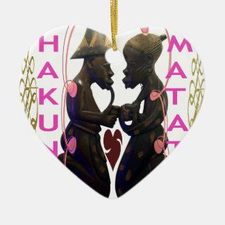Hakuna Matata Hakunamatata Adorno Navideño De Cerámica En Forma De Corazón