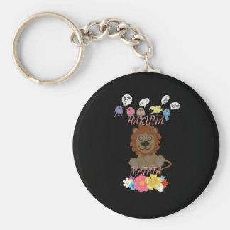 Hakuna Matata Hakunamatata baby lion.png Basic Round Button Keychain