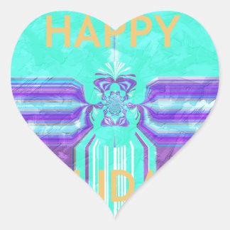Hakuna Matata Happy Holidays Heart Sticker