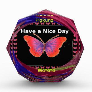 Hakuna Matata Have a Nice Day infinity Butterfly c Award