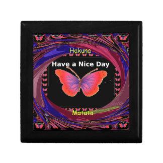 Hakuna Matata Have a Nice Day infinity Butterfly c Jewelry Box