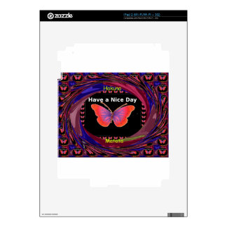 Hakuna Matata Have a Nice Day infinity Butterfly c Skin For iPad 2