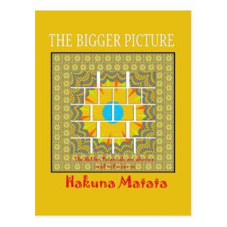 Hakuna Matata Hidden Potentials graphic art patter Postcard