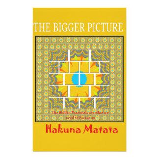 Hakuna Matata Hidden Potentials graphic art patter Stationery