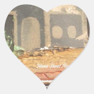 Hakuna Matata Home Sweet Home inspiration quote.jp Heart Sticker