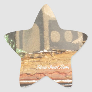 Hakuna Matata Home Sweet Home inspiration quote.jp Star Sticker