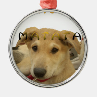 Hakuna Matata I know what you are thinking pinctur Round Metal Christmas Ornament