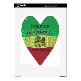 Hakuna Matata I love Ethiopia Colors.png Decal For iPad 2