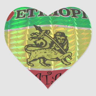 Hakuna Matata I love Ethiopia Colors.png Heart Sticker