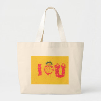 Hakuna Matata I Love U  Swahili word Text Meaning. Large Tote Bag