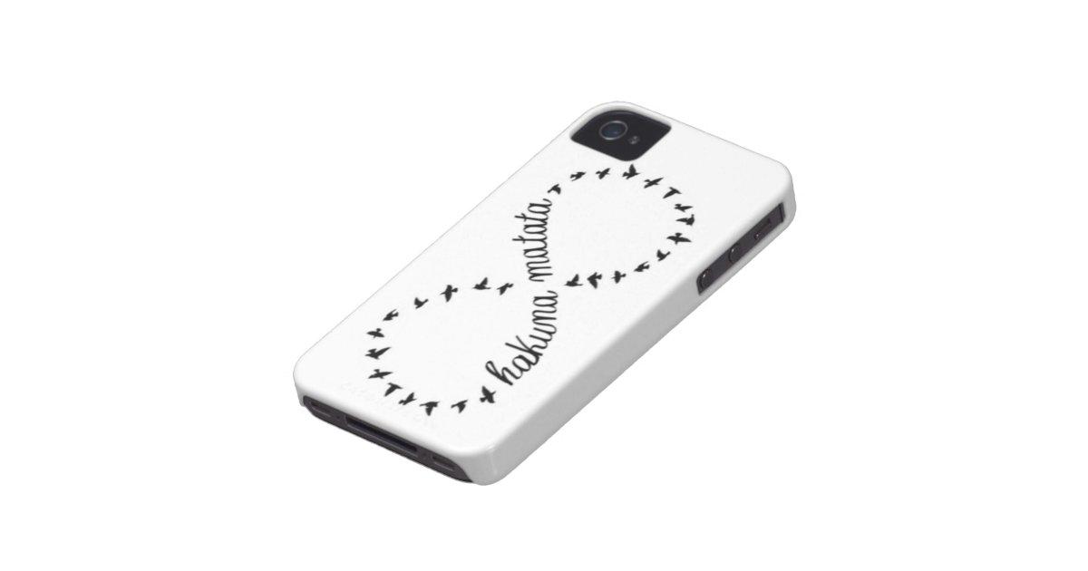 Hakuna Matata Infinity Symbol Iphone 4 4s Case Zazzle