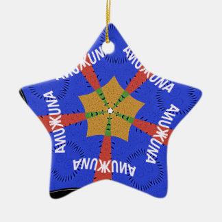 Hakuna Matata Iridiscent Blue Ceramic Ornament