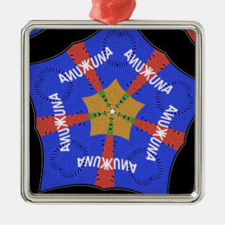 Hakuna Matata Iridiscent Blue Metal Ornament