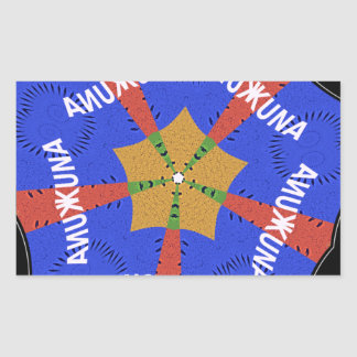Hakuna Matata Iridiscent Blue Rectangular Sticker