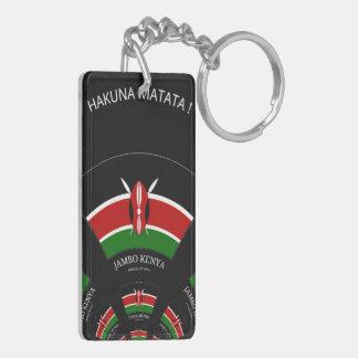 Hakuna Matata Jambo Acrylic Rectangular Keychains