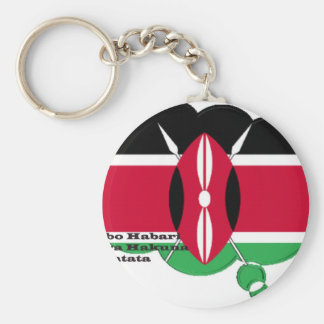 Hakuna Matata Jambo Habari Basic Round Button Keychain