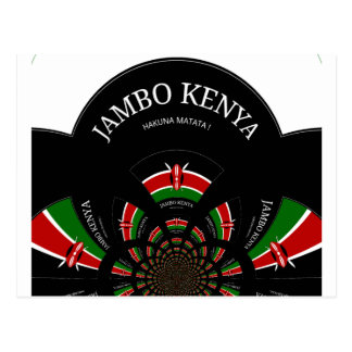 Hakuna Matata Jambo Kenia Tarjeta Postal