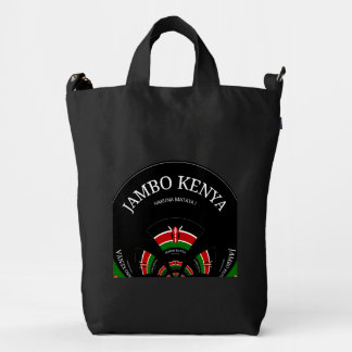 Hakuna Matata Jambo Kenya Custom BAGGU Canvas Bag Duck Canvas Bag