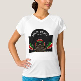 Hakuna Matata Jambo Kenya Dry V-Neck T-Shirt White
