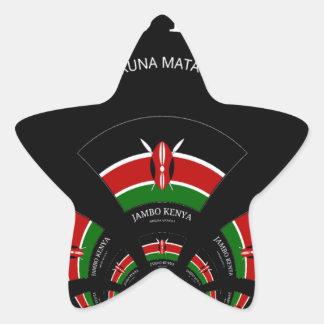 Hakuna Matata Jambo Kenya Star Sticker
