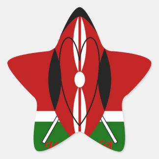 Hakuna matata Karaibu Kenya Star Sticker
