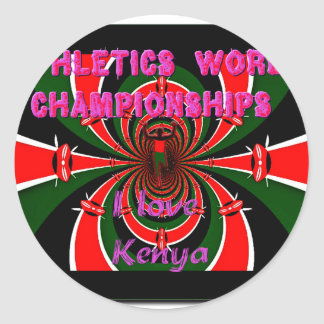 Hakuna Matata Kenya Athletics World Champions I lo Classic Round Sticker