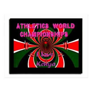 Hakuna Matata Kenya Athletics World Champions I lo Postcard