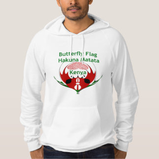 Hakuna Matata Kenya Butterfly Flag Hoodie