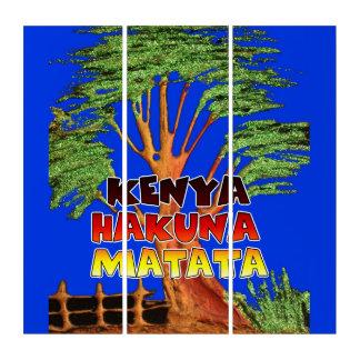 Hakuna Matata Kenya Lovely Blue Sky Triptych