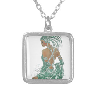 Hakuna Matata Ladies Going Green.png Square Pendant Necklace