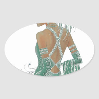 Hakuna Matata Ladies Going Green.png Oval Sticker