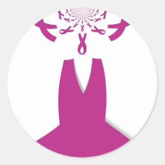 Hakuna Matata Latest Breast Cancer Awareness Ribon Classic Round Sticker