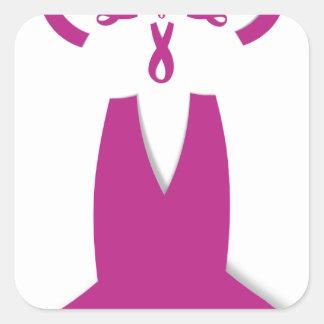 Hakuna Matata Latest Breast Cancer Awareness Ribon Square Sticker
