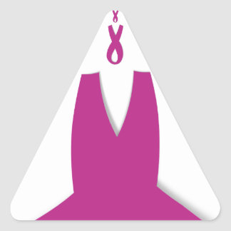 Hakuna Matata Latest Breast Cancer Awareness Ribon Triangle Sticker