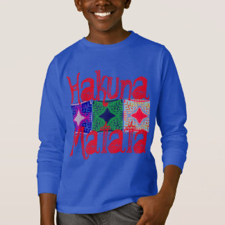 Hakuna matata Latest Cool Graphic Text Art Pattern T-Shirt