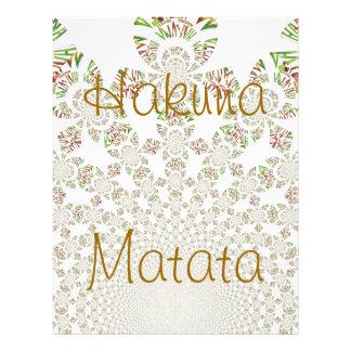 Hakuna Matata Letterhead