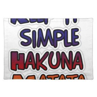 Hakuna Matata lo guarda los regalos simples