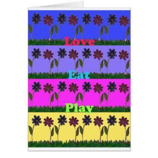 Hakuna Matata Love Eat Play.png Greeting Card